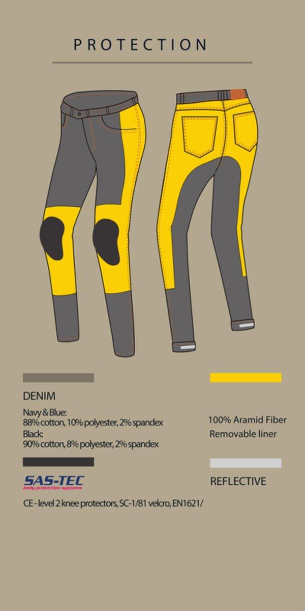 spodnie jeans broger california lady washed 3 Sklep Motocyklowy Wrocław