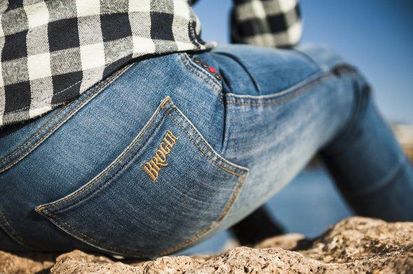 spodnie jeans broger california lady washed BLUE 7 Sklep Motocyklowy Wrocław