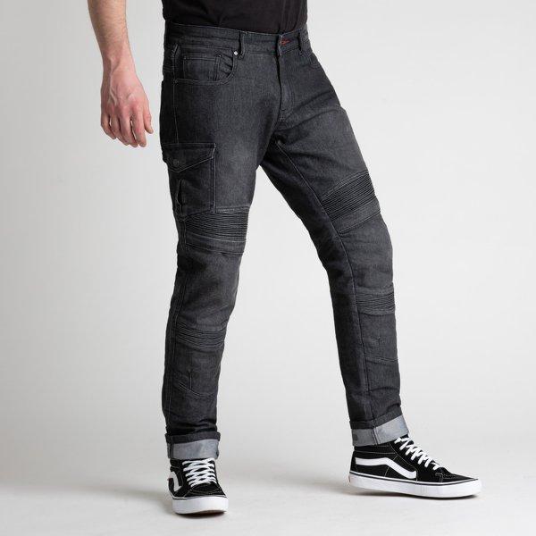 spodnie jeans broger ohio washed BLACK Sklep Motocyklowy Wrocław