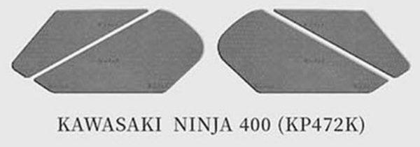 tank pad tank grips keiti kawasaki ninja 400 BLACK 1 Sklep Motocyklowy Wrocław