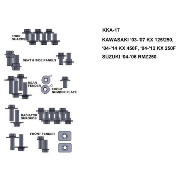 zestaw srub keiti do kawasaki 03 07 kx 125 250 04 14 kx 450f 04 12 kx 250f Sklep Motocyklowy Wrocław