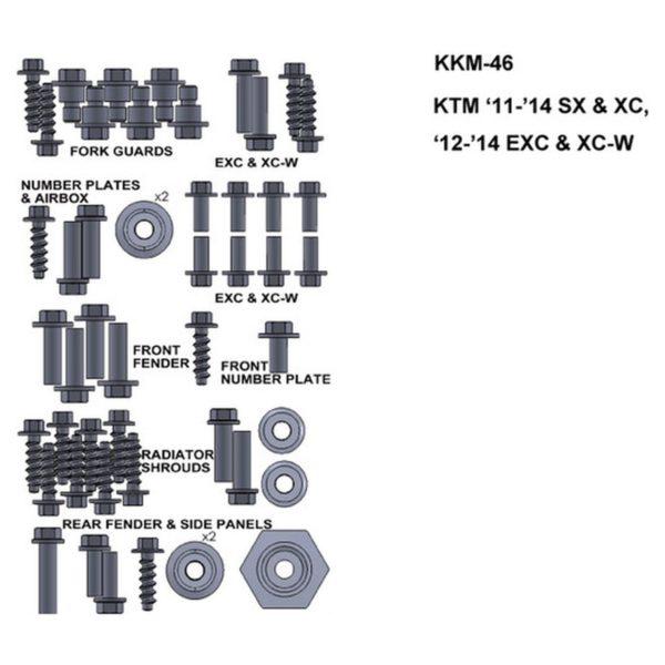 zestaw srub keiti do ktm11 14 sx xc 12 14 exc xc w Sklep Motocyklowy Wrocław