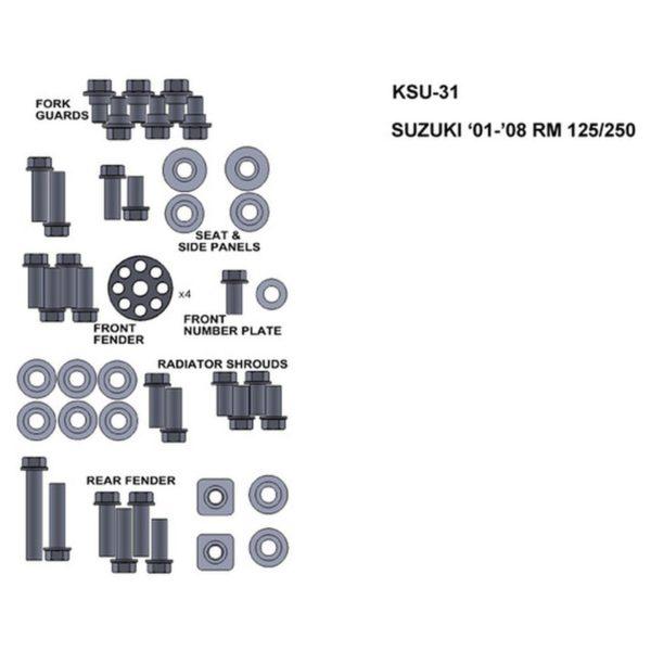 zestaw srub keiti do suzuki 01 08 rm 125 250 Sklep Motocyklowy Wrocław