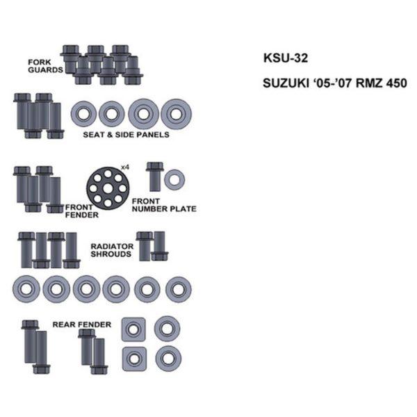 zestaw srub keiti do suzuki 05 07 rmz 450 Sklep Motocyklowy Wrocław