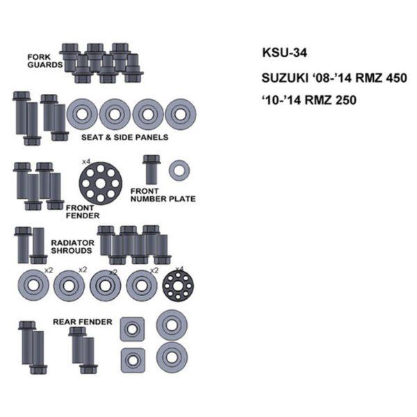 zestaw srub keiti do suzuki 08 14 rmz 450 10 14 rmz250 Sklep Motocyklowy Wrocław