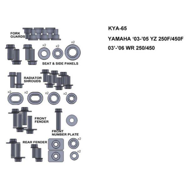 zestaw srub keiti do yamaha 03 05 yz 250f 450f 03 06 wr 250 450 Sklep Motocyklowy Wrocław