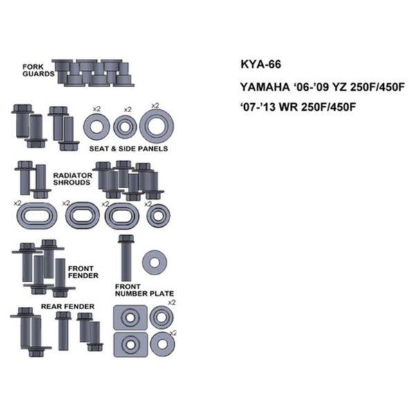 zestaw srub keiti do yamaha 06 09 yz 250f 450f 07 13 wr 250f 450f Sklep Motocyklowy Wrocław