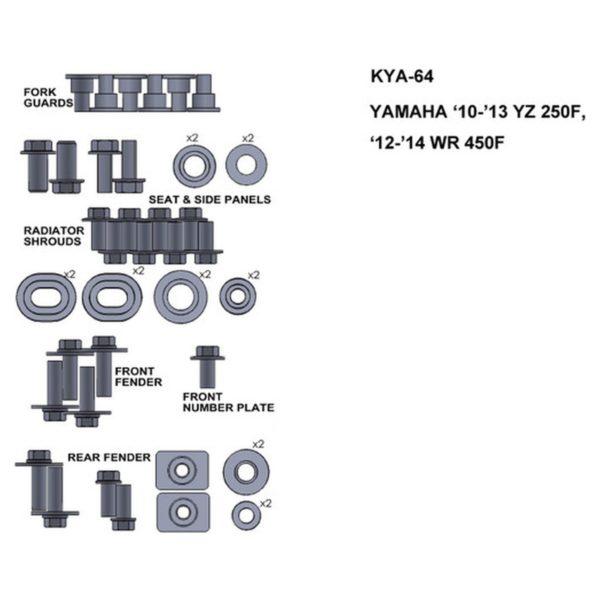 zestaw srub keiti do yamaha 10 13 yz 250f 12 14 wr 450f Sklep Motocyklowy Wrocław