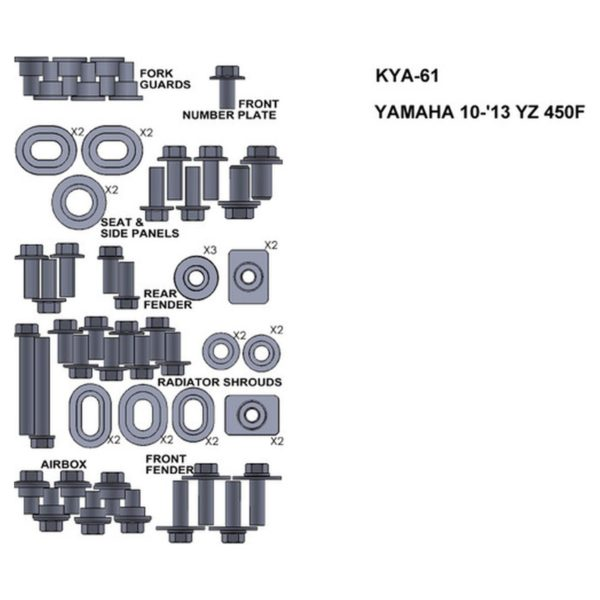 zestaw srub keiti do yamaha 10 13 yz450f Sklep Motocyklowy Wrocław