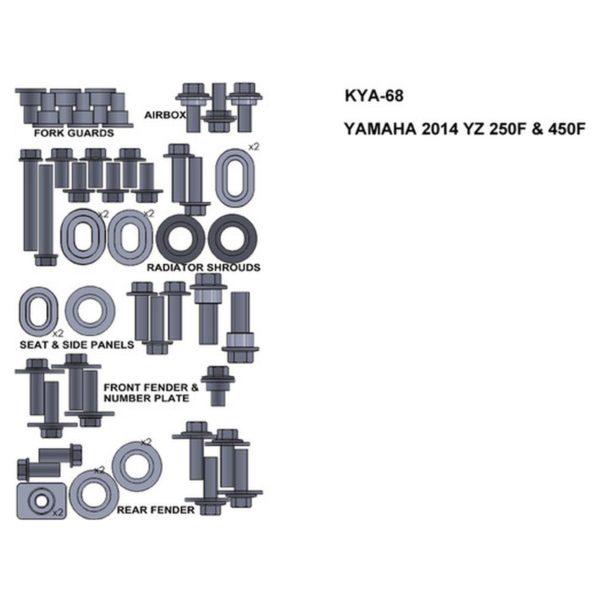 zestaw srub keiti do yamaha 2014 yz 250f 450f Sklep Motocyklowy Wrocław