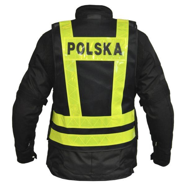 kamizelka odblaskowa ozone polska YELLOW 2 Sklep Motocyklowy Wrocław