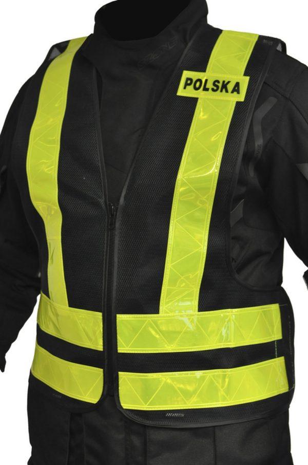 kamizelka odblaskowa ozone polska YELLOW 3 Sklep Motocyklowy Wrocław